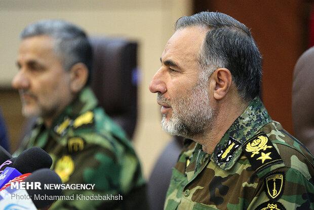 Presser of Army Ground Force Cmdr. Heidari