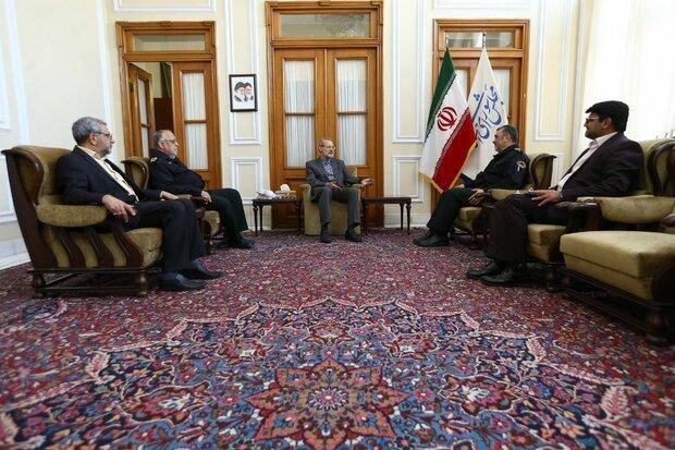 دیدار فرمانده ناجا با رئیس مجلس شورای اسلامی