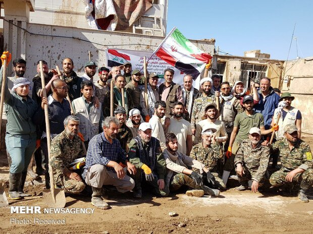 امدادرسانی نیروهای عراقی در مناطق سیلزده پلدختر