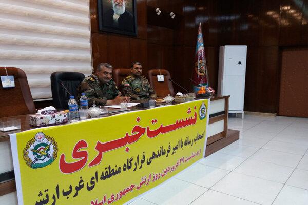برنامه روزارتش دراستان کرمانشاه/توان ارتش درمقابله با هرنوع تهدید