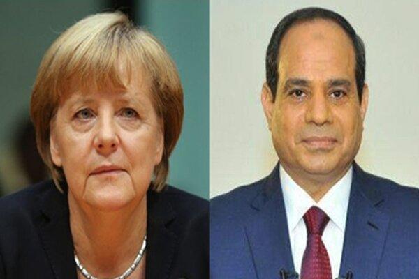 رایزنی تلفنی سیسی و مرکل درباره سودان و لیبی