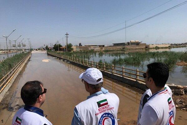 بازدید هلال احمر کویت از مناطق سیلزده ایران و آمادگی برای کمک