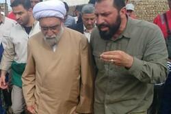 تولیت آستان قدس رضوی از مناطق سیل زده آققلا بازدید کرد