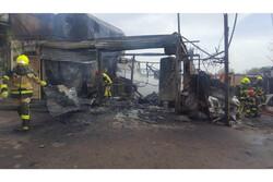 حریق کارگاه شارژ سیلندرهای ال پی جی در قزوین یک مصدوم برجای گذاشت