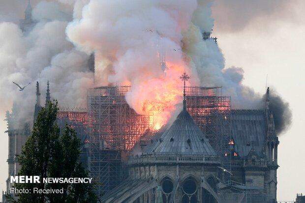 آتش سوزی در کلیسای نوتردام پاریس - 6