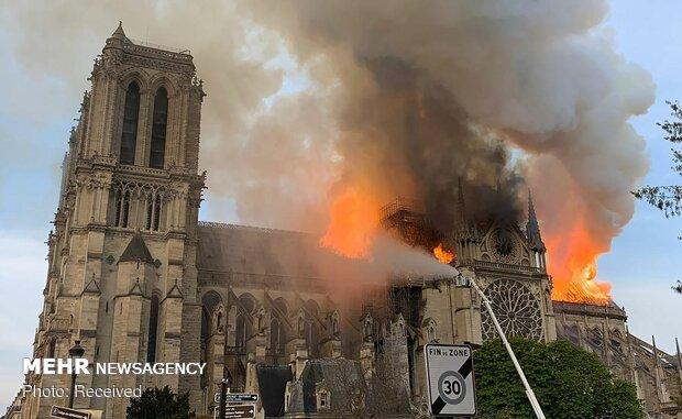 آتش سوزی در کلیسای نوتردام پاریس - 12