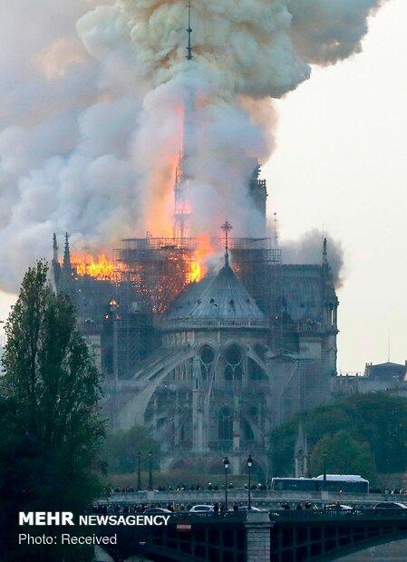 آتش سوزی در کلیسای نوتردام پاریس - 4
