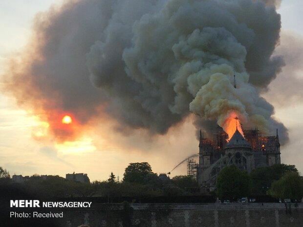 آتش سوزی در کلیسای نوتردام پاریس - 10