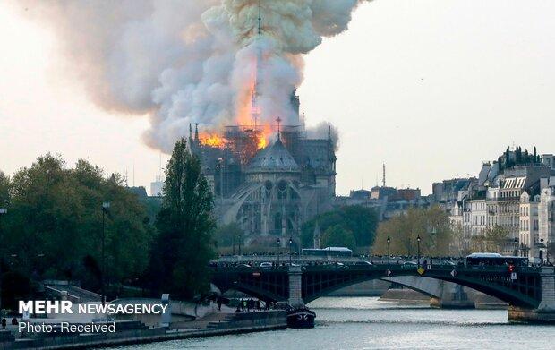 آتش سوزی در کلیسای نوتردام پاریس - 18