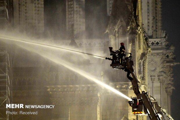 آتش سوزی در کلیسای نوتردام پاریس - 26