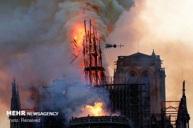 آتش سوزی در کلیسای نوتردام پاریس - 32
