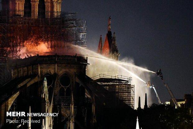 آتش سوزی در کلیسای نوتردام پاریس - 34