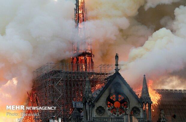 آتش سوزی در کلیسای نوتردام پاریس - 36