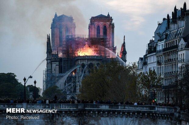آتش سوزی در کلیسای نوتردام پاریس - 44