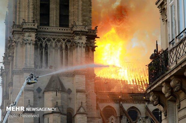 آتش سوزی در کلیسای نوتردام پاریس - 47