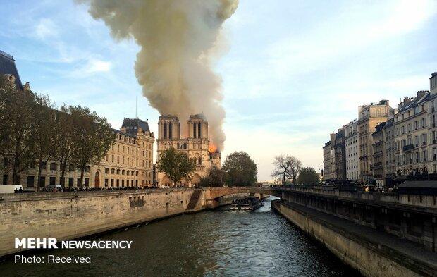 آتش سوزی در کلیسای نوتردام پاریس - 55