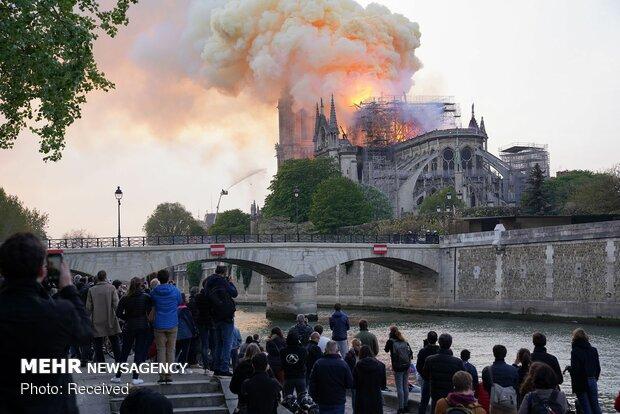 آتش سوزی در کلیسای نوتردام پاریس - 53