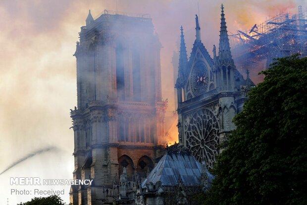 آتش سوزی در کلیسای نوتردام پاریس - 49
