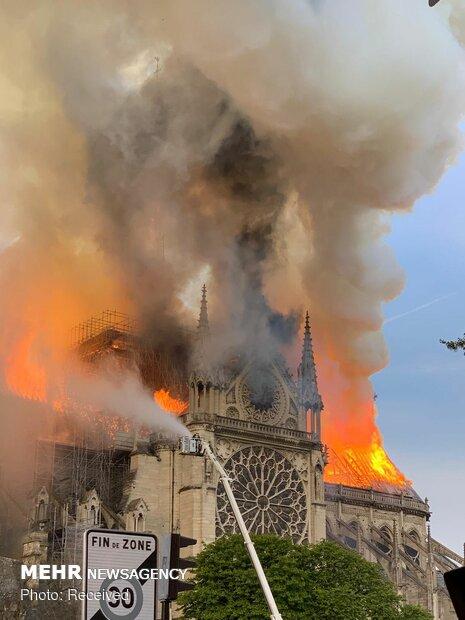 آتش سوزی در کلیسای نوتردام پاریس - 57