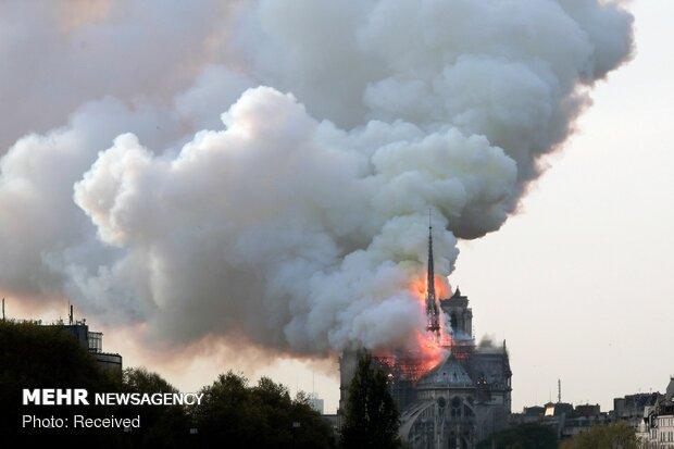 آتش سوزی در کلیسای نوتردام پاریس - 63