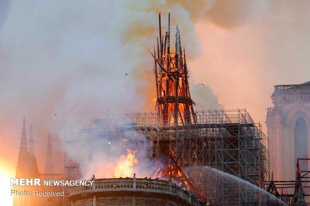 آتش سوزی در کلیسای نوتردام پاریس - 73