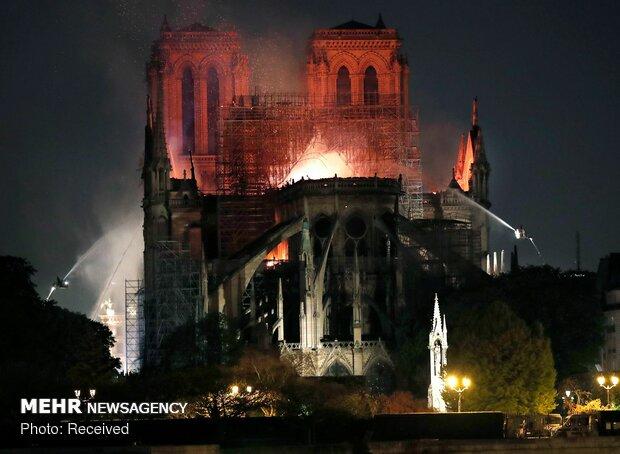 آتش سوزی در کلیسای نوتردام پاریس - 71