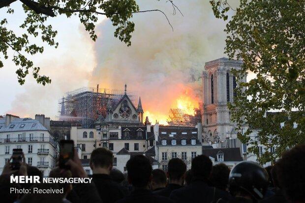 آتش سوزی در کلیسای نوتردام پاریس - 75