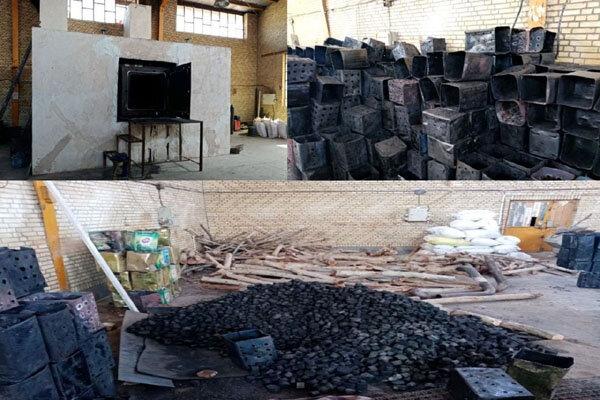 شناسایی یک واحد تولید زغال غیرمجاز و آلاینده در بهارستان