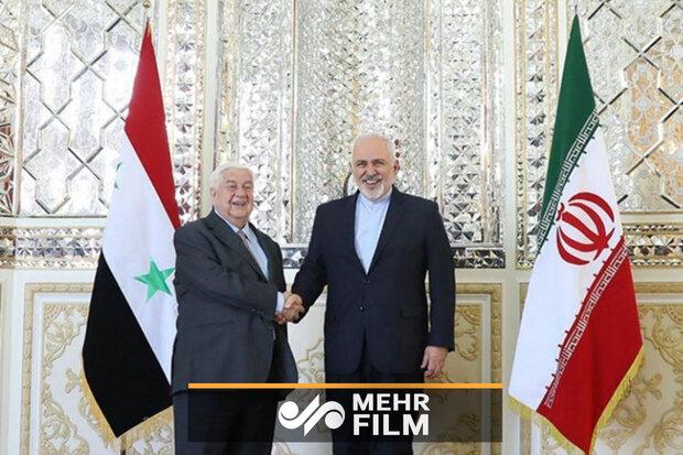 دیدار ظریف با وزیر خارجه سوریه در دمشق