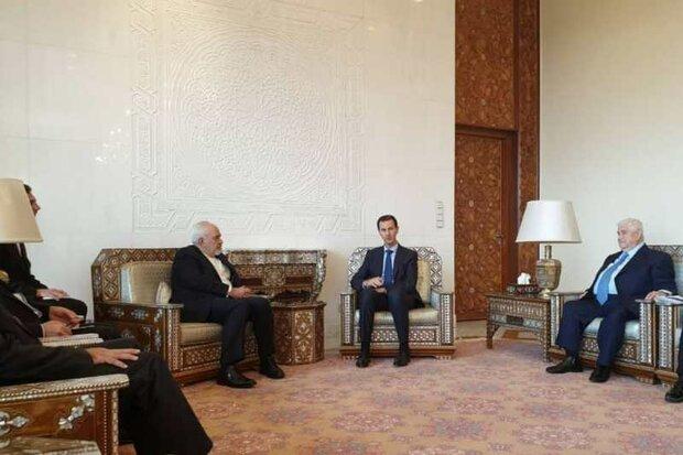 دمشق میں ایرانی وزیر خارجہ کی شام کے صدر بشار اسد سے ملاقات