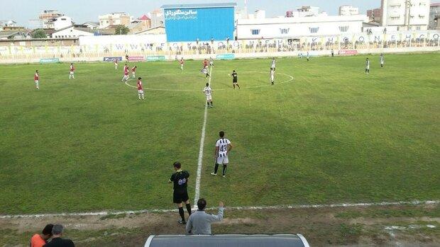 خونه به خونه مازندران در لیگ یک فوتبال ماندنی شد