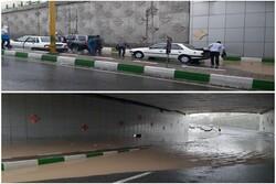 آبگرفتگی شدید در ارومیه/بارش برف بهاری مردم را غافلگیر کرد