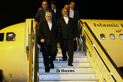 FM Zarif lands in Istanbul to attend ministerial conference