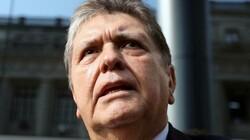 Peru's former president Alan Garcia