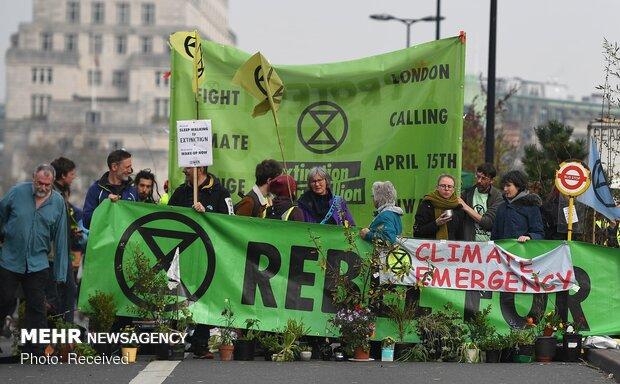 تظاهرات فعالان محیط زیست در انگلیس