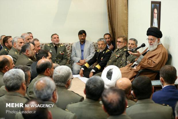 Ayatollah Khamenei receives IRI Army's commanders and senior officials