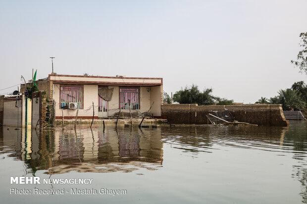 ۲۰۰ هزار هکتار زمین کشاورزی خوزستان سیلاب زده شد