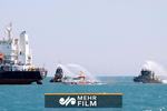 رزمایش مشترک نیروی دریایی عمان و ایران در خلیج فارس