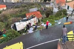 ۲۸ کشته در واژگونی اتوبوس گردشگری در پرتغال