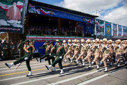 Army forces parade in Tabriz