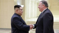 North Korean leader Kim Jong Un and US Secretary of State Mike Pompeo, photographed during a meeting in Pyongyang.