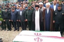 مراسم تشییع پیکر دو تن از نیروهای خدوم بنیاد مسکن اردبیل برگزار شد