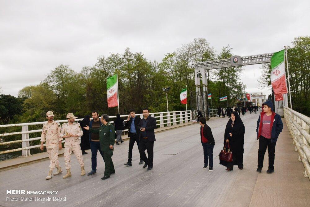 بازدید رئیس سازمان بسیج رسانه استان گیلان از گذرگاه مرزی آستارا