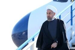 صدر حسن روحانی تاجیکستان پہنچ گئے