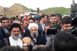 زيارة الرئيس روحاني لمحافظة لرستان