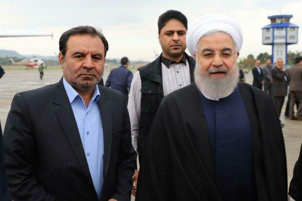صدر روحانی صوبہ لرستان کے دورے پر خرم آباد پہنچ گئے