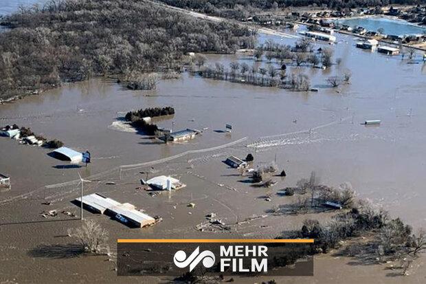 امریکہ میں سیلاب زدہ علاقہ نبراسکا کی خبروں پر پابندی