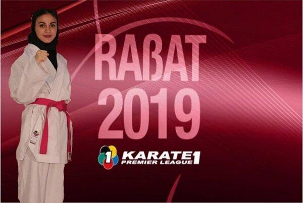 «سارا بهمن یار» از گردونه رقابت های لیگ جهانی کاراته حذف شد