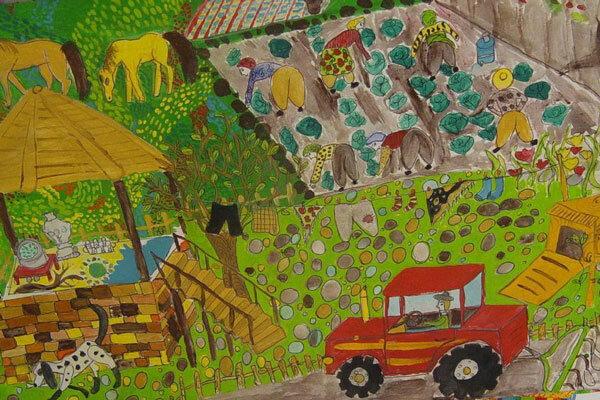 Iranian children win award at Kanagawa Biennial World Children's Art Exhibition