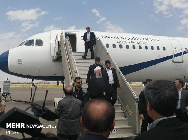 الرئيس الإيراني يصل الى محافظة خوزستان